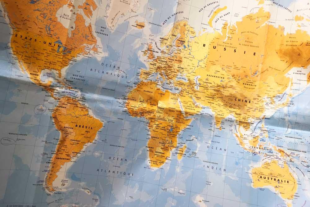 Tour du monde, carte