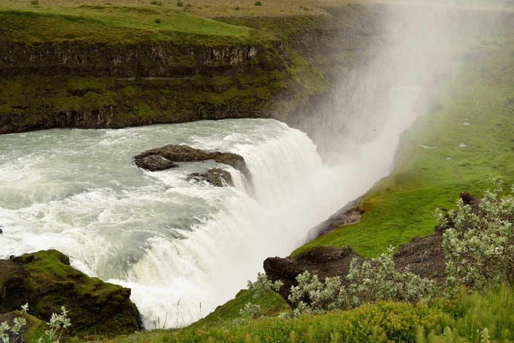 Cascade Gullfoss, Islande