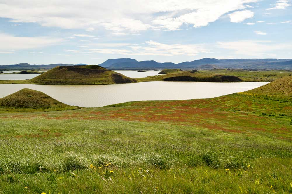 Road trip Islande, lac Mývatn : Skútustaðagígar.