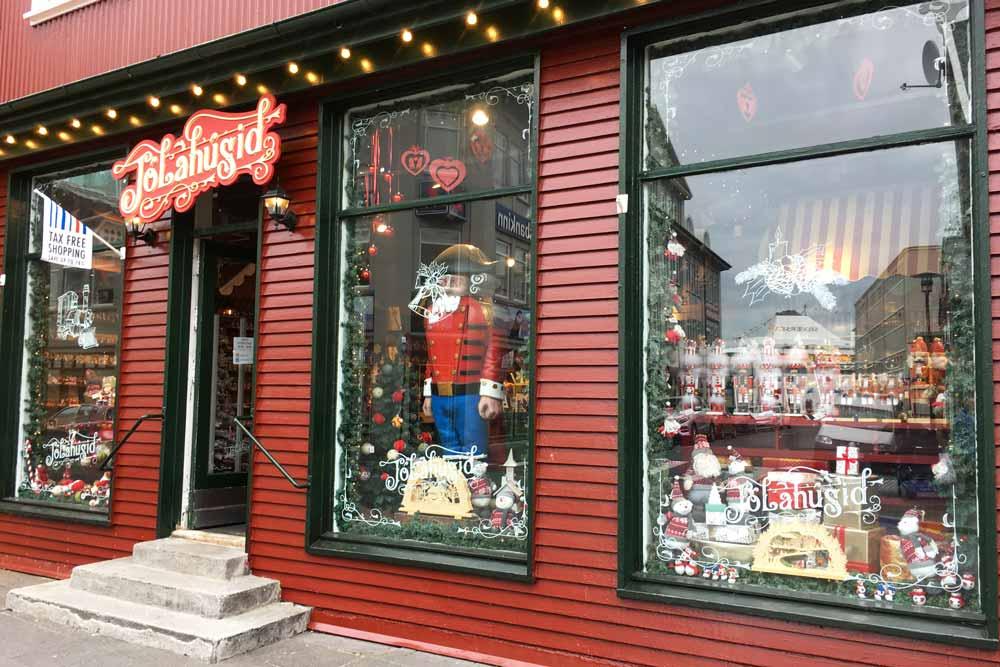 Boutique de Noël, Reykjavik, Islande