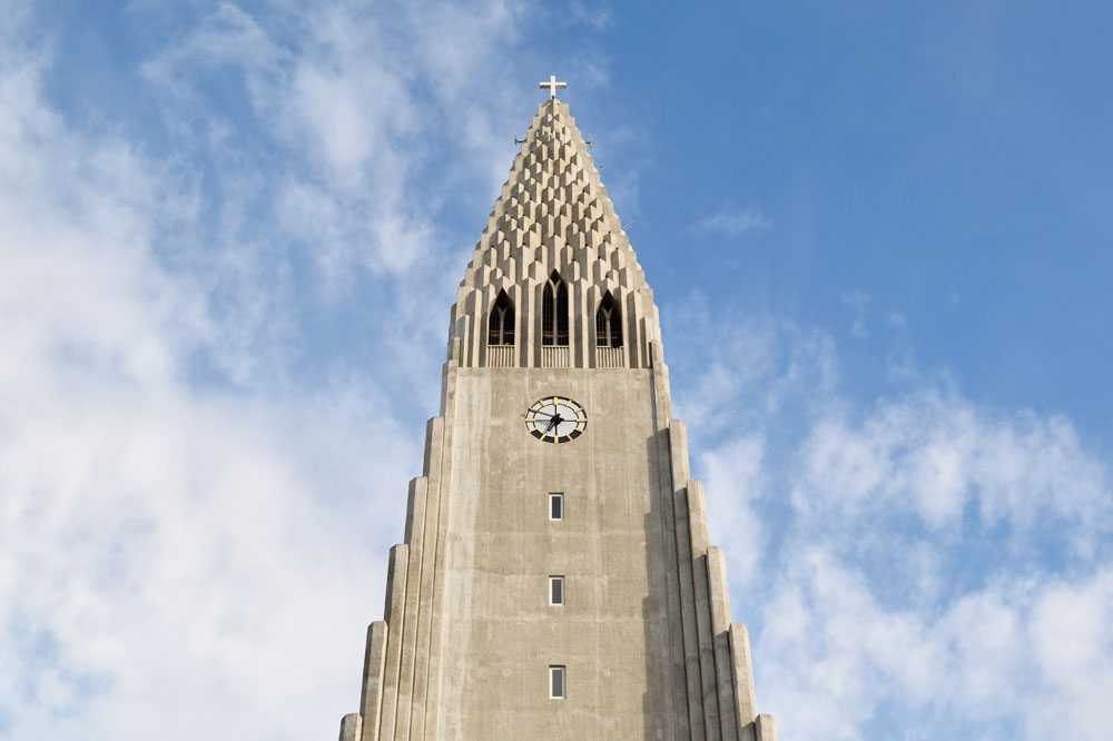 Cathédrale Hallgrimskirkja, Reykjavik, Islande
