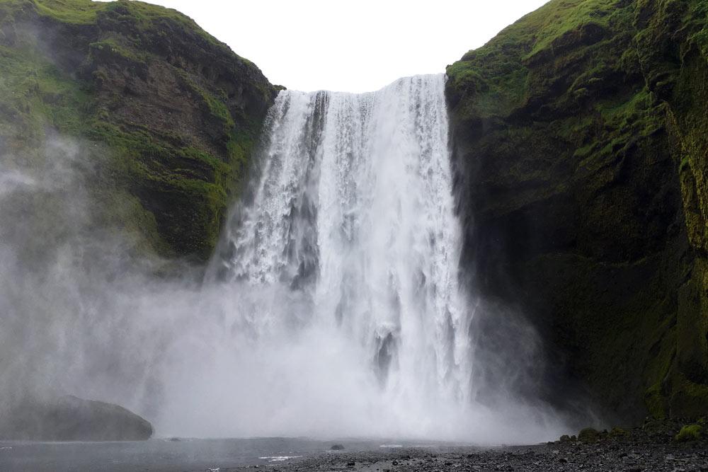 Cascade Skógafoss, Islande
