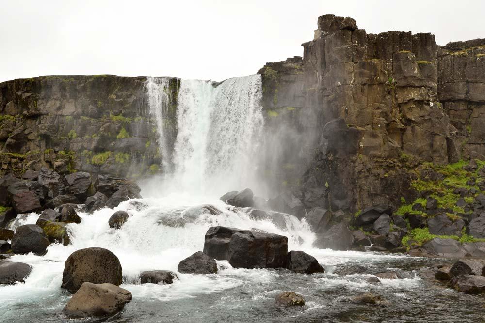 Cascade Öxarárfoss, road trip Islande