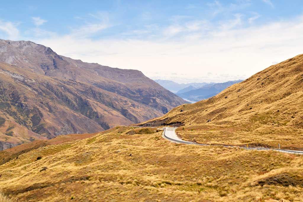 Crown Range Road Nouvelle Zélande