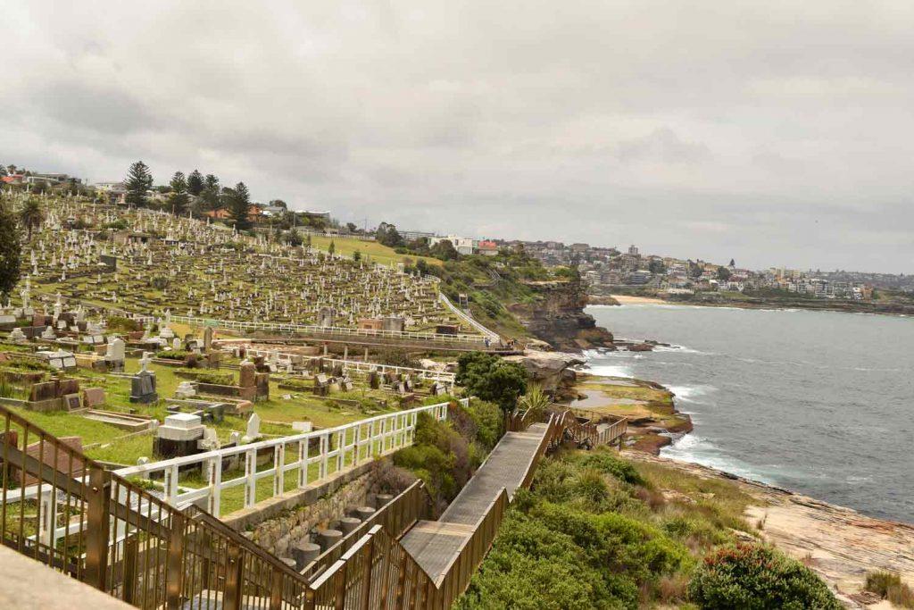 Cimetière de Waverley visible sur le Coastal Walk de Bondi à Coogee