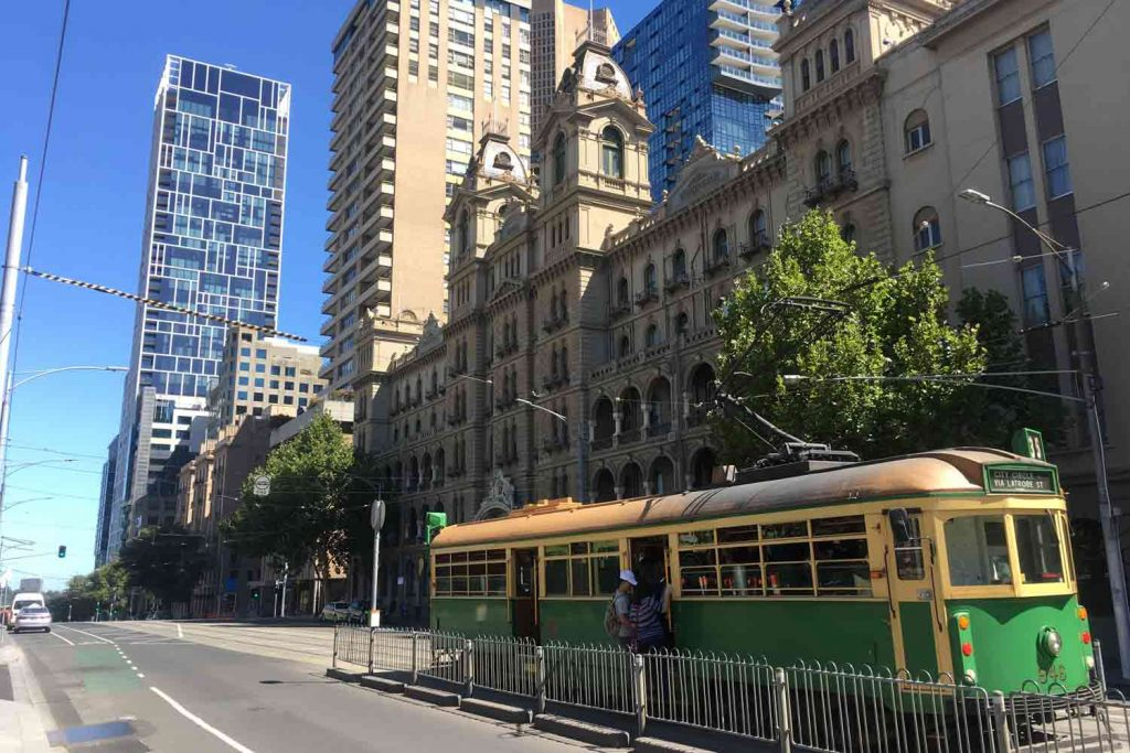 Visiter Melbourne et le tramway traditionnel