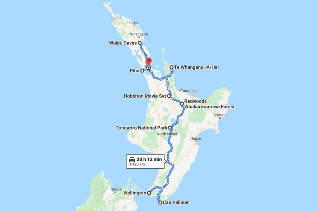 Itinéraire Road trip un mois Nouvelle Zélande