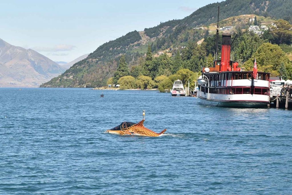 Requin semi-submersible sur le lac Wakatipu