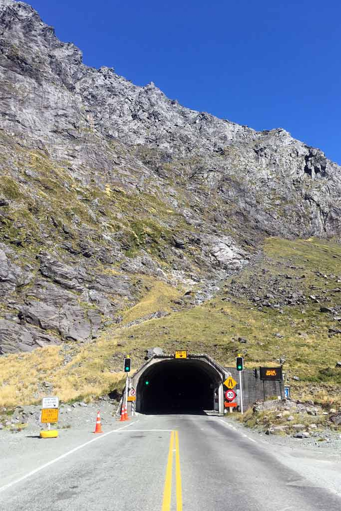 Route Te Anau Milford Sound : Homer Tunnel