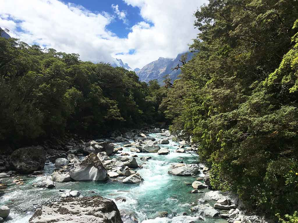 Route Te Anau Milford Sound, Tutoko River