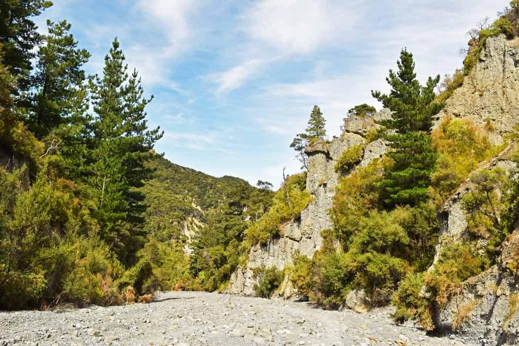 Putangirua Pinnacles Track via streambed