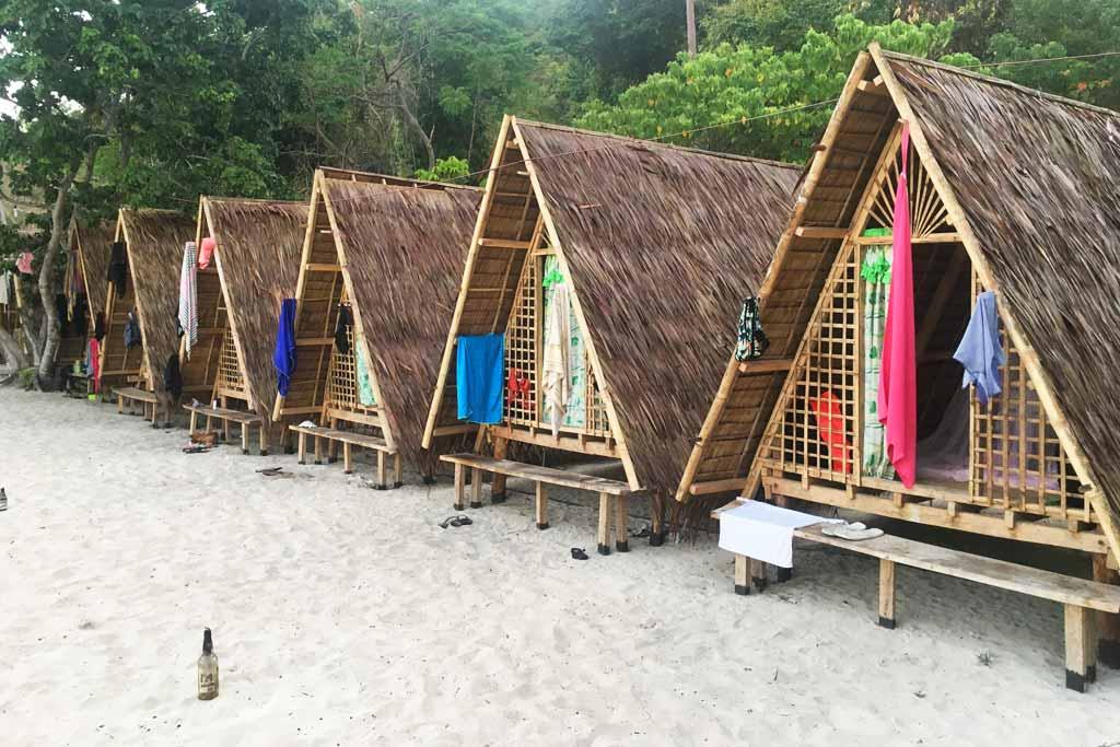 cahutes en bambou