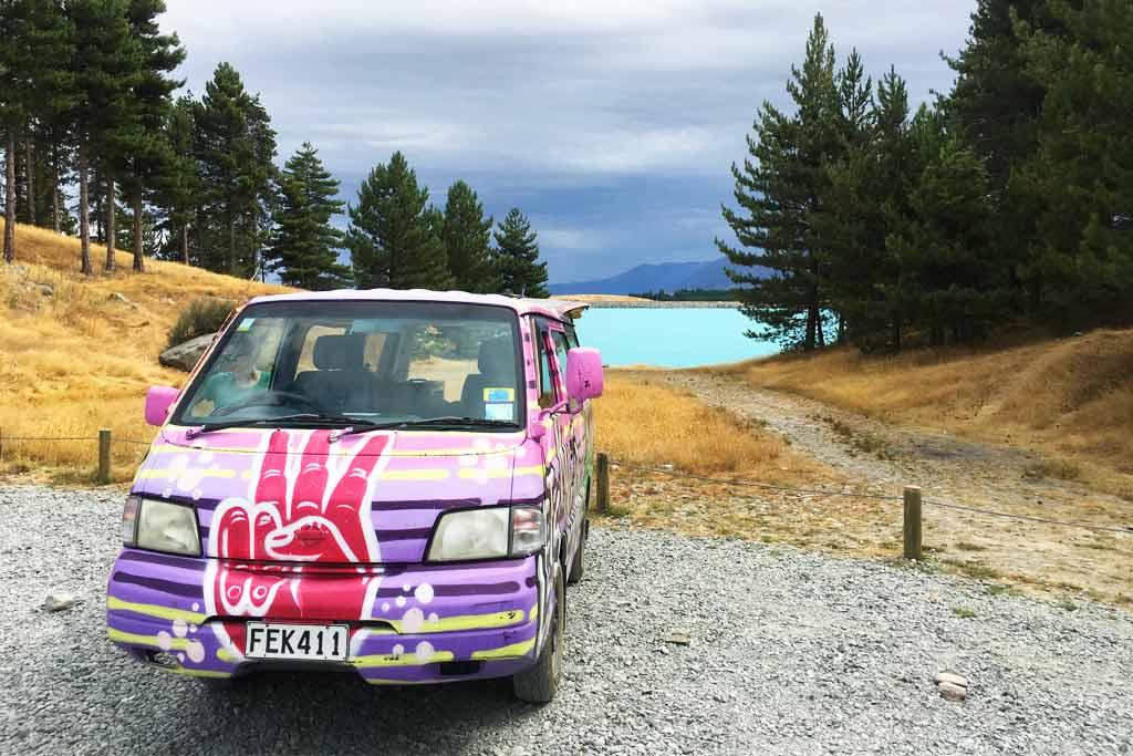 Free campsite Nouvelle Zélande