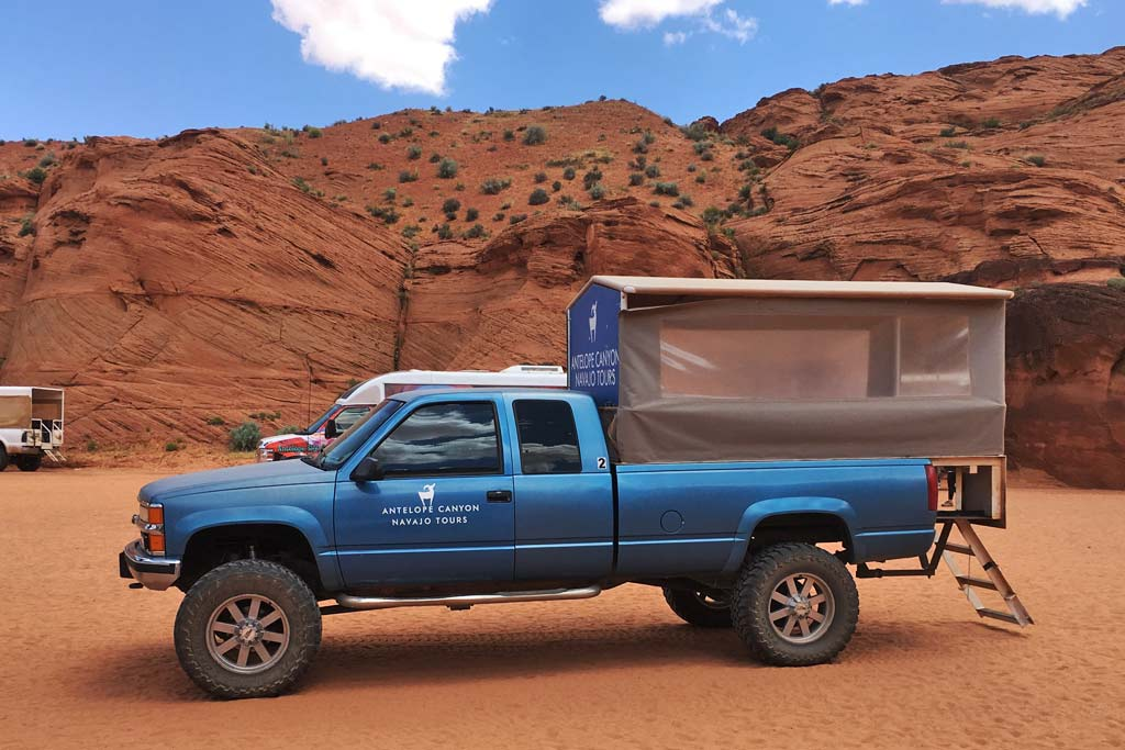 Navajo Tours pick-up
